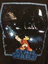 Mickey Mouse Star Wars T Shirt S Youth Darth Vader Disney Black Short Sleeves