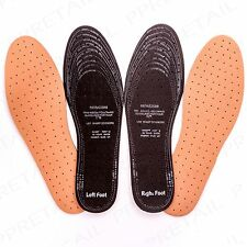 4 PAIRS LEATHER PADDED THICK SHOE INSOLE Cut To Size Mens/Ladies Comfy Inner Pad
