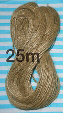 25M Natural Jute Rustic Hessian Twine String Craft Cord Sisal Yarn Hanging Tag