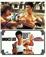 CHUCK NORRIS hand-signed BRUCE LEE MARTIAL ARTS 8x10 lifetime coa WAY OF DRAGON