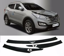 Acrylic Emblem Hood Guard Protector Cover 3pcs For Hyundai Santa Fe 2013 2016