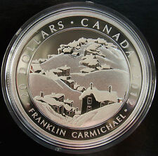 2012 Canada Fine Silver Coin, Franklin Carmichael, Houses, Cobalt,  No Sale Tax