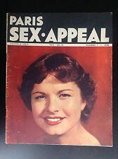 Rare Revue magazine Paris Sex Appeal N° 1 1950  NU Erotisme TBE