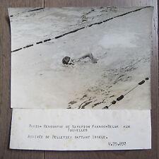 PHOTO DE PRESSE 1944 PELLETIER NATATION RENCONTRE FRANCO BELGE AUX TOURELLES