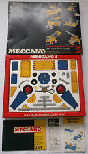 MECCANO 1972 YELLOW & BLUE No 5 SET METAL CONSTRUCTION TOY & INSTRUCTIONS BOXED