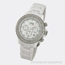 Authentic Vabene Snow White Chronograph Silver Bezel 41mm  Watch CH916