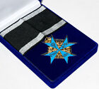 WWI WW2 GERMAN ARMY BLUE MAX MEDAL BADGE WITH RIBBON AND BOX -31936