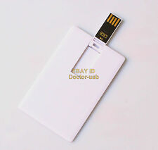 Blank White Credit Card USB Drive Memory Flash Thumb Stick 2GB 10PCS by Bulk 2.0