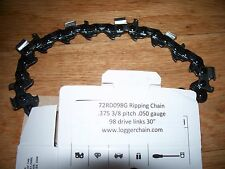 """1 72RD098G Oregon 30"""" 3/8 pitch .050 gauge 98 DL Ripping chainsaw chain"""