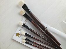 6 JAPANESE PAINTING BRUSH 1/12 10 8 6 4 2 CHINESE ART WATER COLOR ACRYLIC OIL