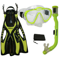 Youth Child Kids Snorkeling Purge Mask Snorkel Fin Set