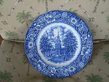 VINTAGE STAFFORDSHIRE IRONSTONE LIBERTY BLUE INDEPENDENCE HALL ~ MADE IN ENGLAND
