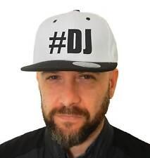Sombrero Dj Hashtag, SnapBack Cap blanco con visera negra, Disc Jokey, Música