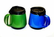2 Foam Insulated 20oz Wide Body Thermoserv Mugs Blue Green Thermo Serv