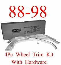 88 98 Chevy GMC 4Pc Wheel Trim Kit, Chrome, With Hardware Included, Truck & SUV