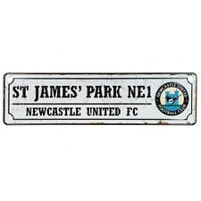 Official Licensed Football Product Newcastle United Retro Window Sign Car Metal