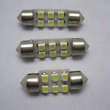 2X White 31mm 6 SMD 1210 Car Spot Lamp LED Interior Festoon Dome Bulb Light 12V