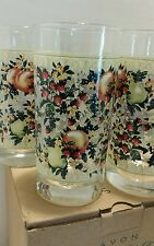 AVON SWEET COUNTRY HARVEST *NEW* Set of 4 KITCHEN GLASS WARE 12oz GLASSES