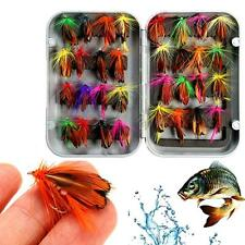 32PCS/Box Mixed Multicolor Trout Flies Lure Fly Fishing Tackle Hook 1.5cm Length