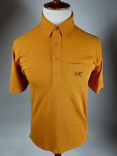 ARCTERYX Short Sleeve Solid Orange Golf Hike Camp Rugby Polo Shirt Men Large