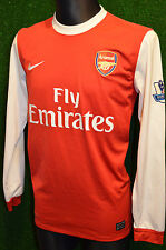 ARSENAL NIKE 2010-11 V.PERSIE#10 HOME FOOTBALL SHIRT (M) L/S JERSEY TOP PATCHES