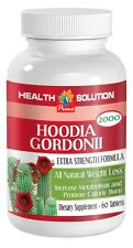 Hoodia Gordonii 2000mg Natural Weight Loss & Calorie Burn (1 Bottle 60 Tablets)