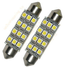 2 x Car Dome 12 3528-SMD LED Bulb Light Interior Festoon Lamp 42mm White New