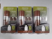 3 Pack EVERPRO Gray Away For Men Light Brown Temporary Hair Color Essentials New