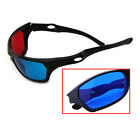 New Red Blue 3D Glasses Black Frame For Dimensional Anaglyph TV Movie DVD Game