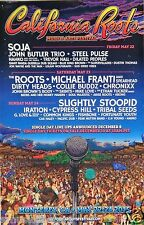 CALIFORNIA ROOTS MUSIC FESTIVAL 2015 CONCERT POSTER -SOJA,Roots,Slightly Stoopid
