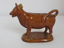 Antique Bennington Rockingham Glaze Cow Creamer c. 1850