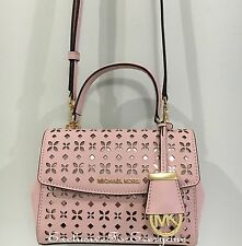 NWT Michael Kors Ava X-Small Saffiano Leather Blossom Ballet Crossbody Bag $198