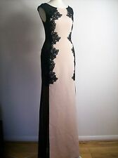 Lipsy  Michelle Keegan Lace Silhouette Maxi Dress - Size  UK 8