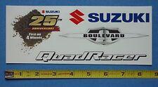 Suzuki Decal Sticker~Sheet of 4~Boulevard~Quad Racer~25th Anniv 1st on 4 Wheels