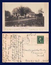 """US MICHIGAN NORTH BRANCH """"LONE ELM"""" B.R. PAYNE HOME 1920 TO MONROE, MICHIGAN"""