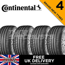 4x NEW 225 40 18 CONTINENTAL CONTISPORT CONTACT 5 92Y TYRES 225/40R18 A WET GRIP