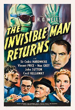 Universal Horror: * The Invisible Man  Returns *   Movie Poster release 1940