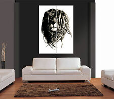RASTA LION WITH DREADLOCKS Giant Wall Art Print Picture Poster