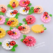 30pcs Resin Flower Flatback Button Scrapbooking DIY Crafts Appliques JOB074