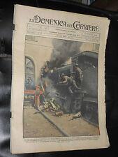 """DOMENICA CORRIERE-ANNO 8-N°27-1930-BELTRAME-DOPPIA COPERTINA """"incidente siracus"""