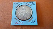 ALLEMAGNE 10 MARK 1972F - OLD GERMAN COIN - REF10150