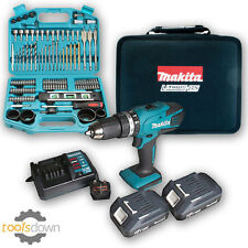 Makita 18v Li-ion Cordless Hammer Combi Drill +2 x Batteries, Charger & Case