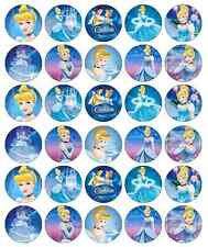 30x Disney Cinderella Cupcake Toppers Edible Wafer Paper Fairy Cake Toppers
