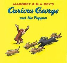 Curious George and the Puppies Margret & H.A. Rey Hard Cover Like New Free Ship
