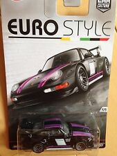 HOT WHEELS EURO STYLE PORSCHE 993 GT2 Black with Real Riders