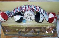 KATHY IRELAND MADISON BOY RED WHITE BLUE BALLS BABY MUSICAL MOBILE LULLABY NEW