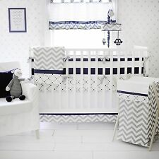 My Baby Sam 4 Piece Nursery Crib Bedding Set Out Of The Blue Includes Bumper NEW