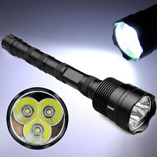 Tactical 3x LED XM-L T6  Flashlight 10000 Lumens Torch Super Bright For Outdoor