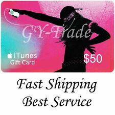 Apple iTunes $50 US Gift Card Voucher Certificate Code USA USD Dollars 100% Fast
