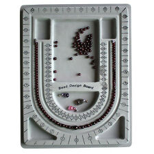 Flocked Bead Board String Craft Tool Beading Jewellery Design Organiser Tray New